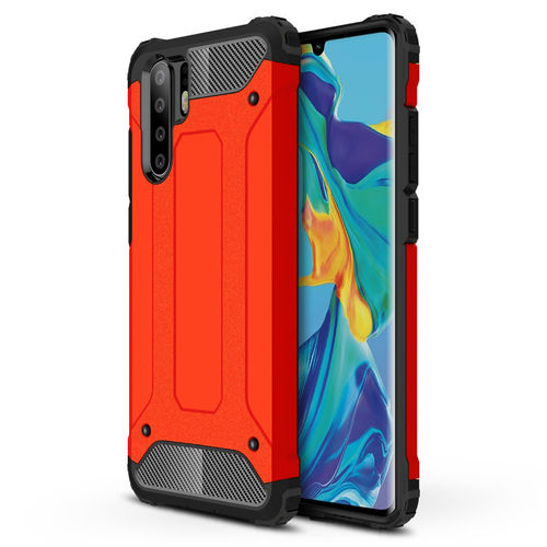 Military Defender Heavy Duty Shockproof Case - Huawei P30 Pro - Red
